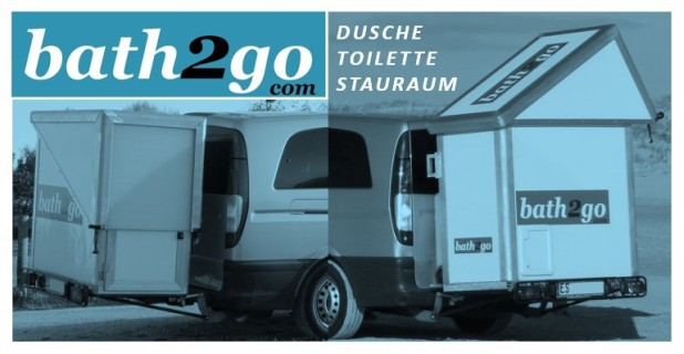 bath2go - die innovative Badkabine für den Bus