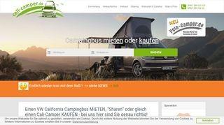 California Vans + Campingbusse mieten und kaufen - direkt bei den CamperVan-Profis - cali-camper.de