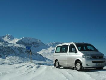 Bernina Pass im Winter