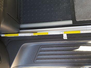 Maß Fahrgastraum hinten