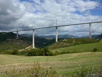 Autobahnbrücke bei Millau, Süd-Frankreich