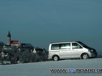 Offroad im Winter vor Andechs